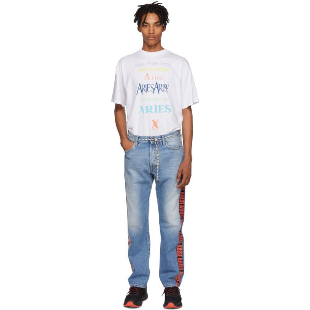 アリエス Aries メンズ ボトムス・パンツ ジーンズ・デニム【Blue Red Tape Lilly Jeans】