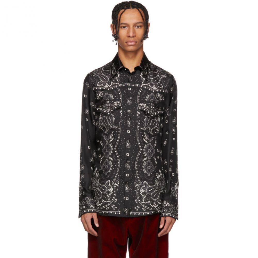 ディースクエアード Dsquared2 メンズ トップス シャツ【Black Silk Western Shirt】