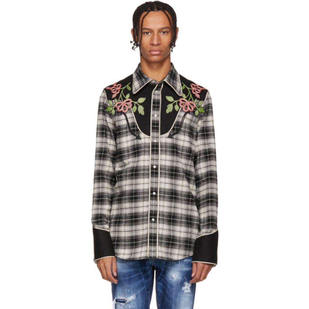 ディースクエアード Dsquared2 メンズ トップス シャツ【Black & Grey Check Western Shirt】