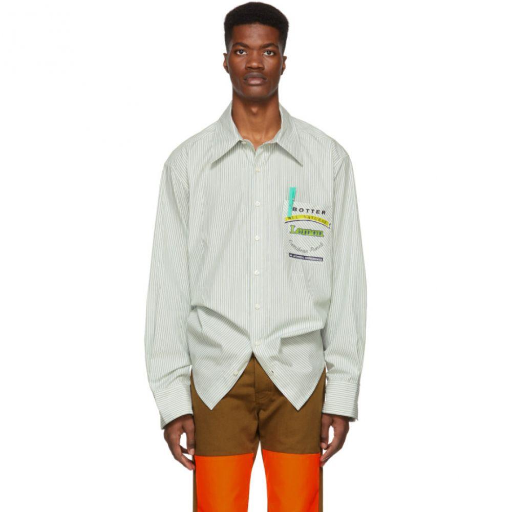 ボッター Botter メンズ トップス シャツ【Green Reinier Stripe Shirt】