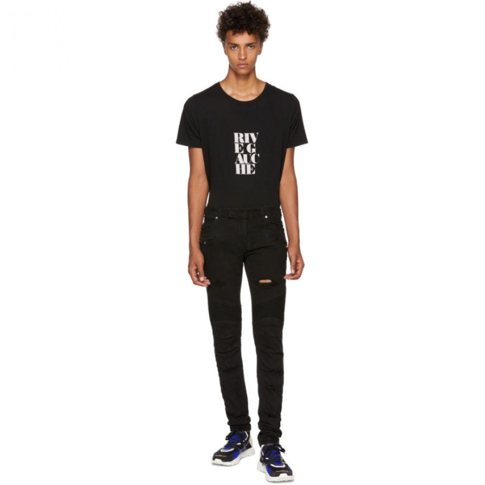 バルマン Balmain メンズ ボトムス・パンツ ジーンズ・デニム【Black Distressed Basic Biker Jeans】