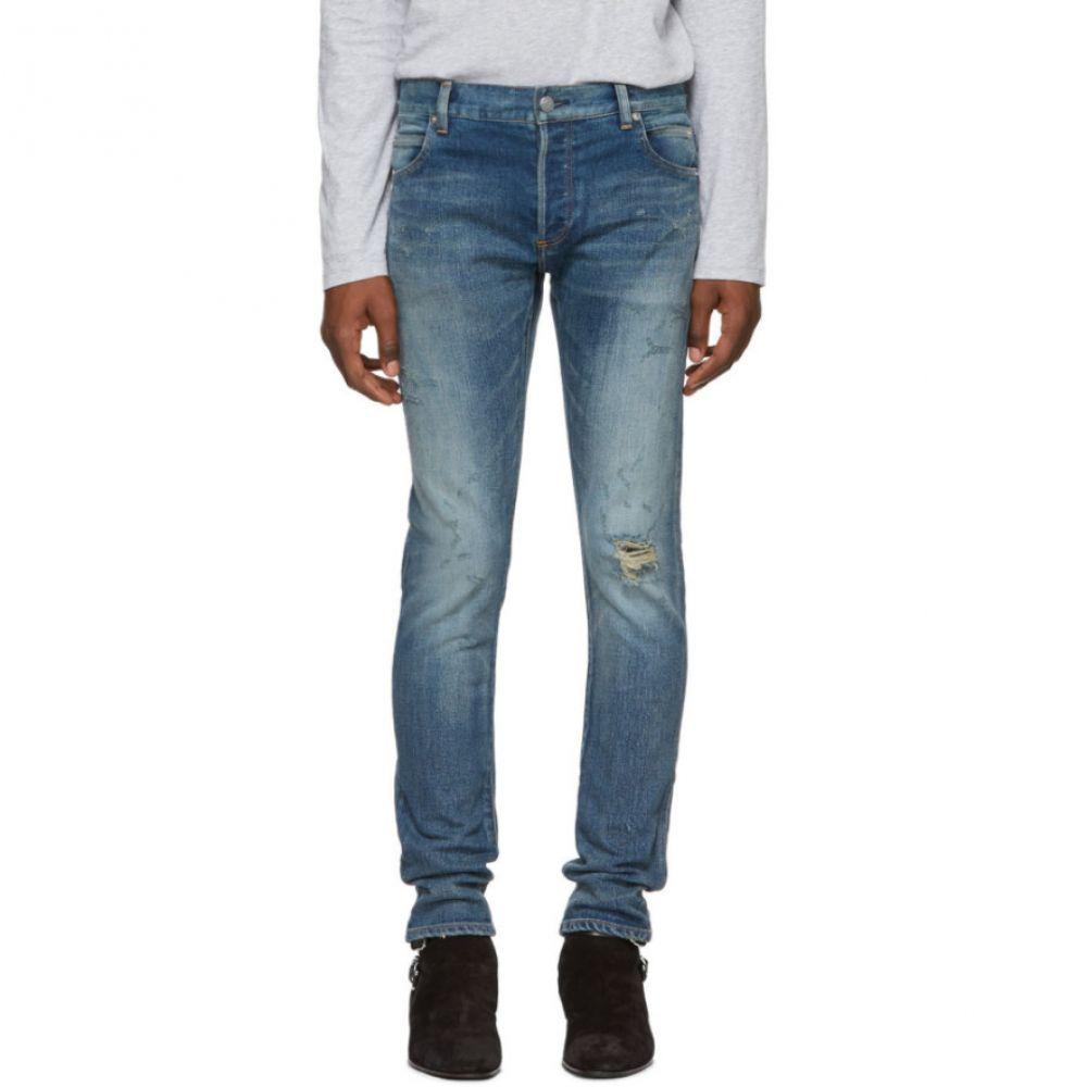 バルマン Balmain メンズ ボトムス・パンツ ジーンズ・デニム【Blue Destroy Vintage Slim Jeans】