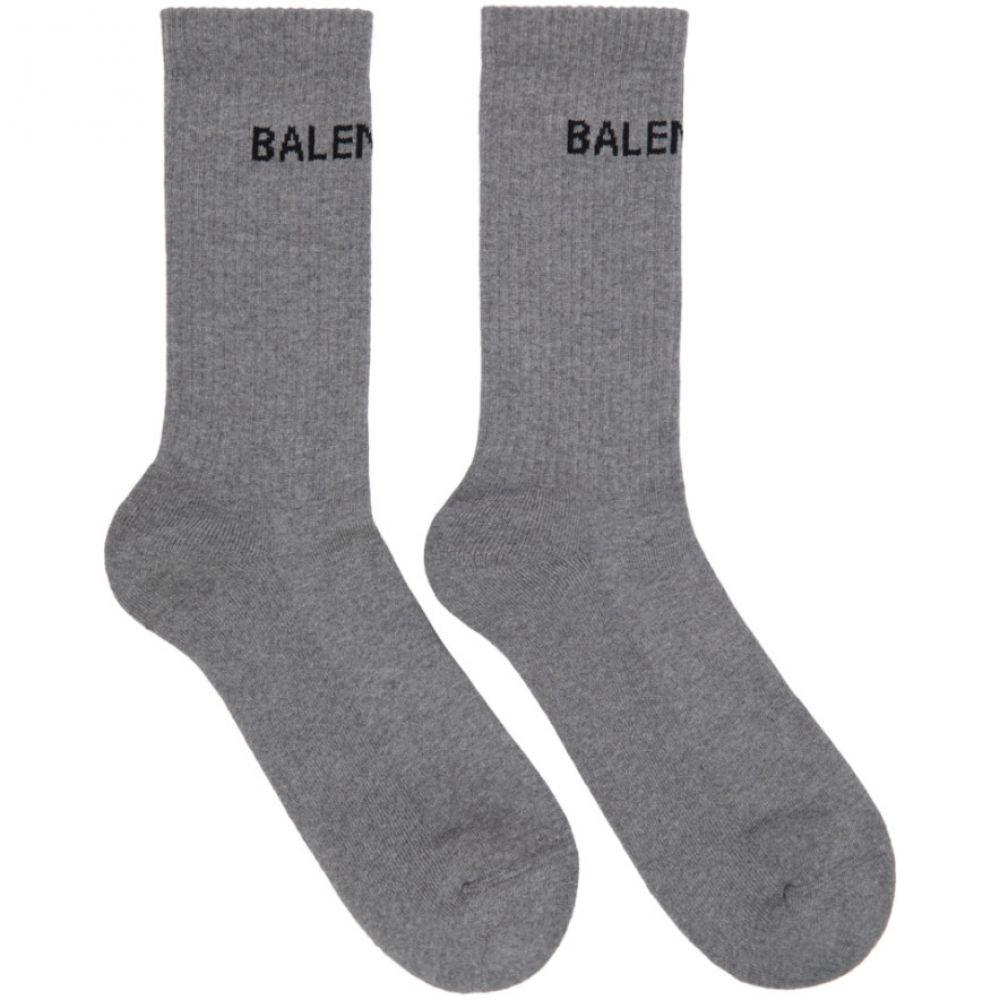 バレンシアガ Balenciaga メンズ テニス【Grey Logo Tennis Socks】