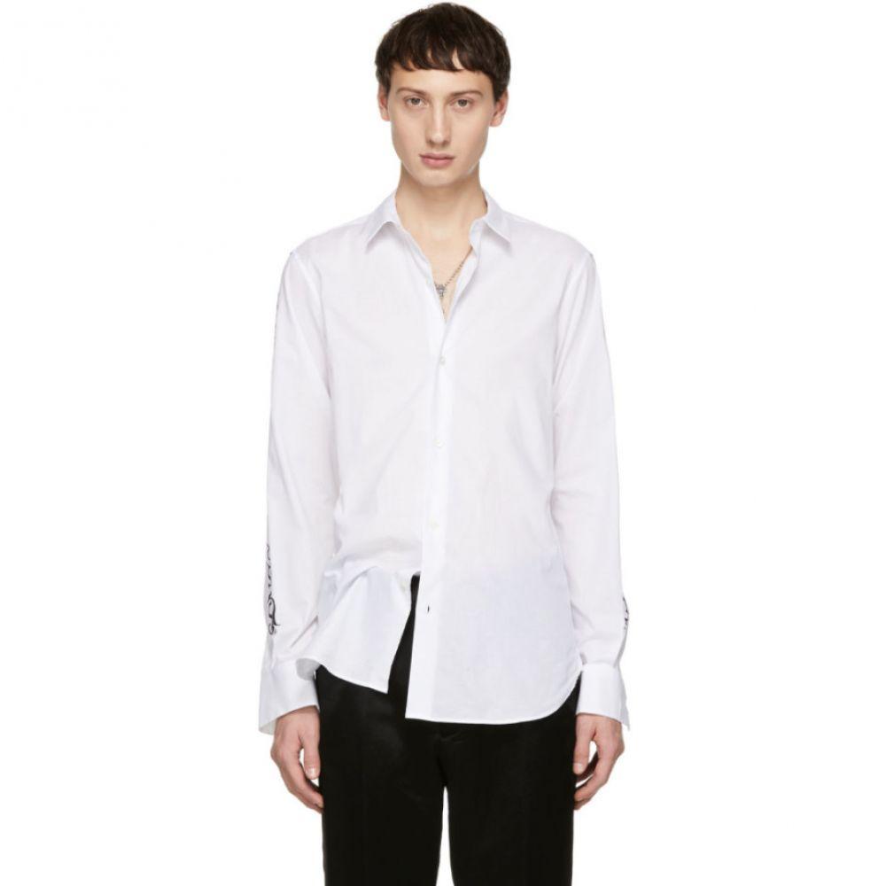 アンドゥムルメステール Ann Demeulemeester メンズ トップス シャツ【White Sleeve Print Shirt】