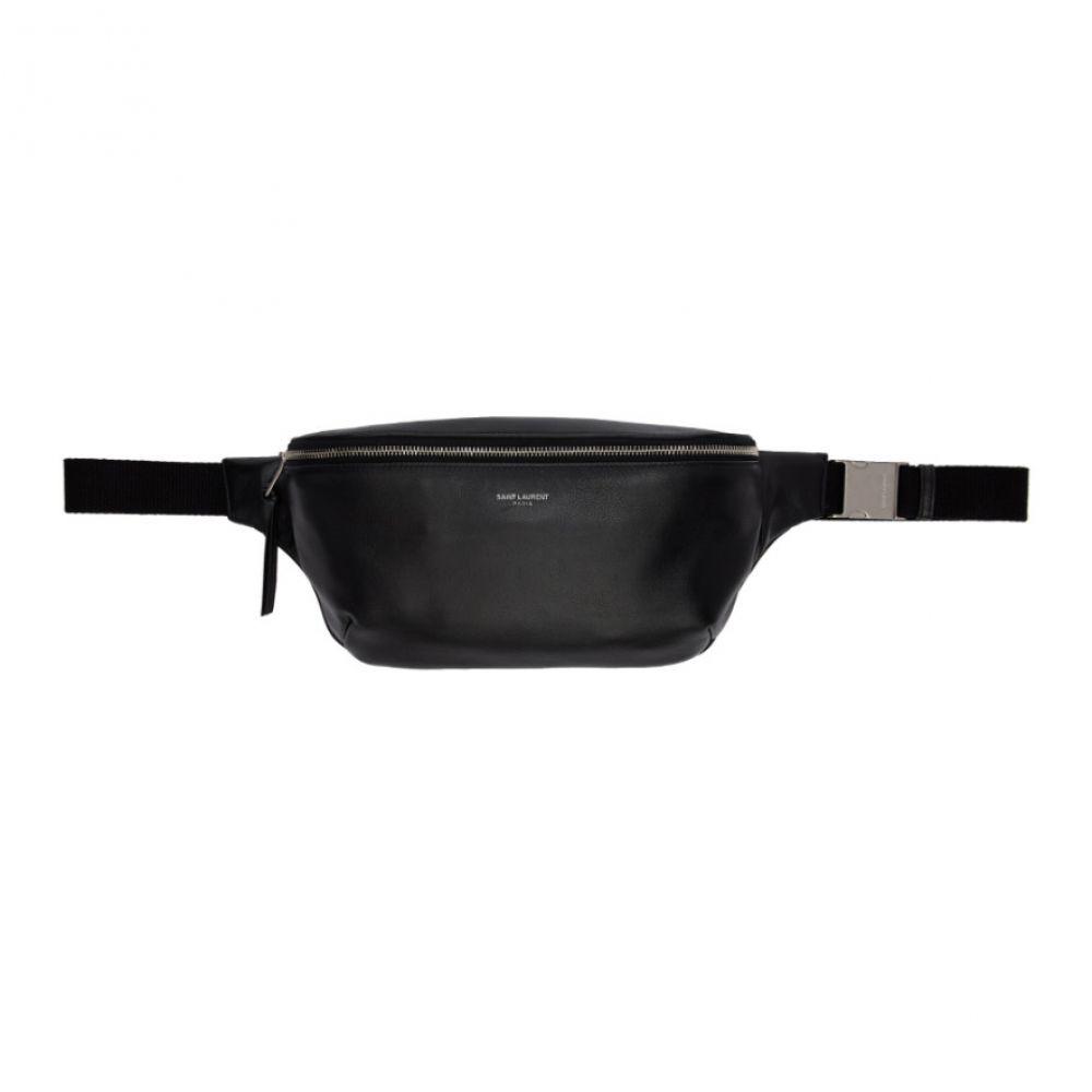 イヴ サンローラン Saint Laurent メンズ バッグ ボディバッグ・ウエストポーチ【Black Leather Bum Bag】