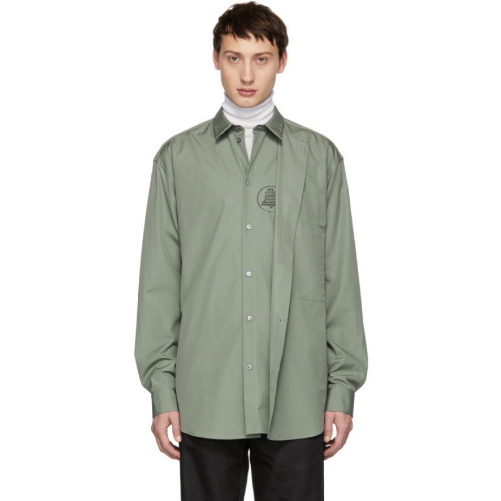 オーエーエムシー OAMC メンズ トップス シャツ【Green Illusion Shirt】