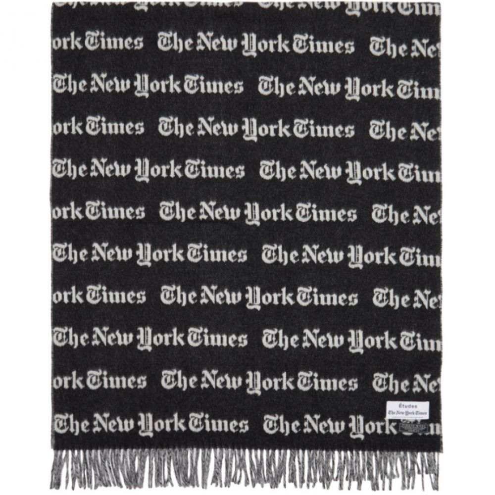 エチュード Etudes メンズ マフラー・スカーフ・ストール【Black & White The New York Times Edition Magnolia Scarf】