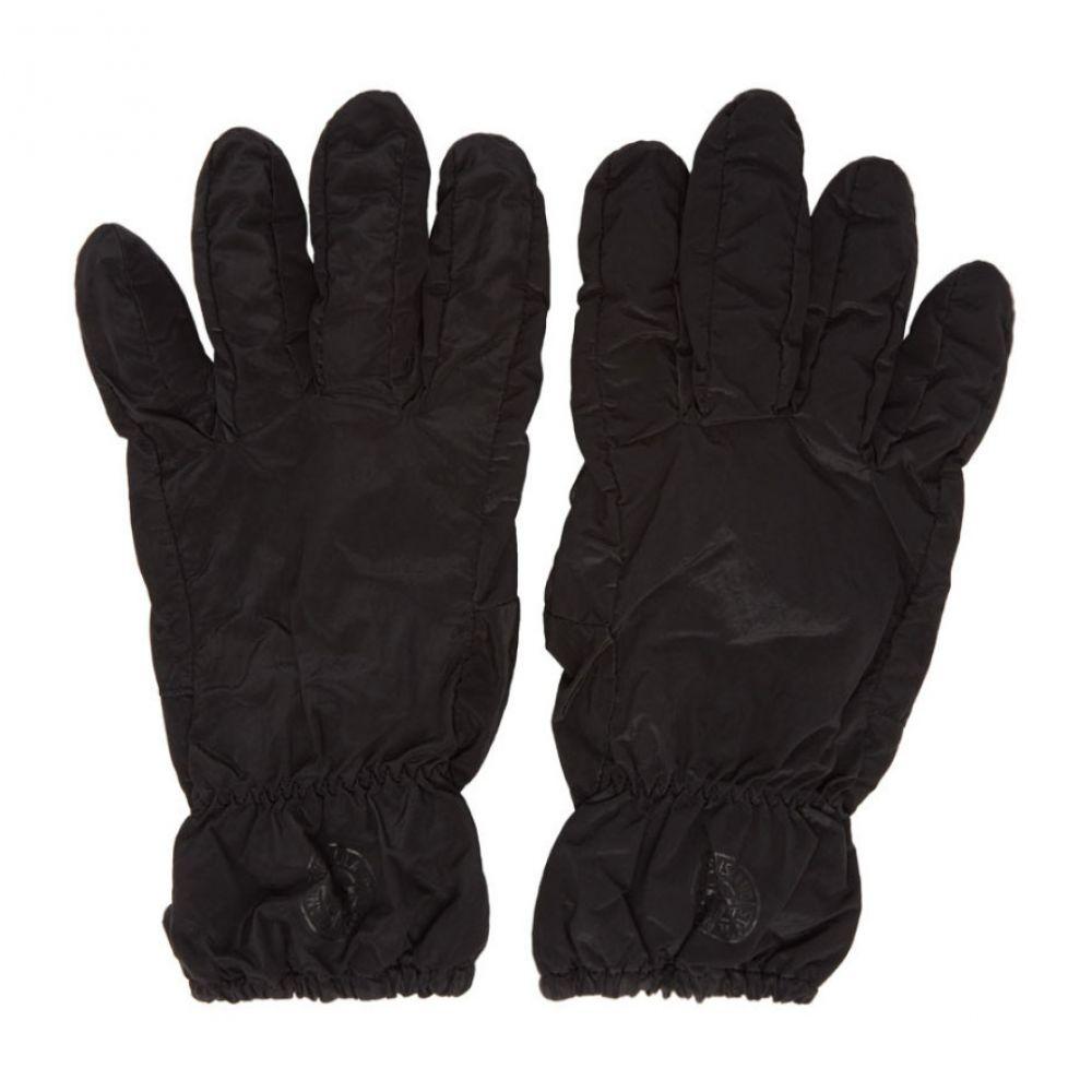 ストーンアイランド Stone Island メンズ 手袋・グローブ【Black Nylon Metal Gloves】