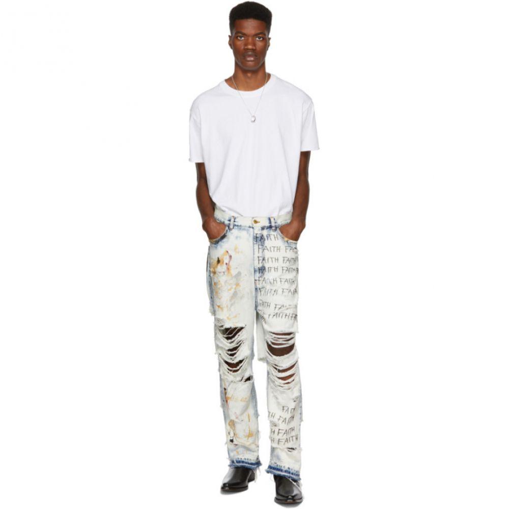 フェイス コネクション Faith Connexion メンズ ボトムス・パンツ ジーンズ・デニム【White Destroyed Baggy Jeans】