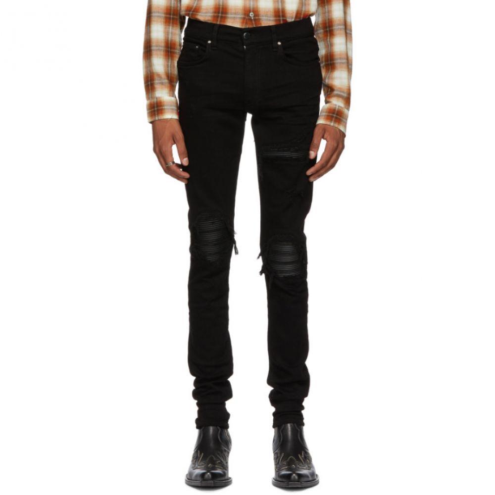アミリ Amiri メンズ ボトムス・パンツ ジーンズ・デニム【Black Leather Patch MX-1 Jeans】