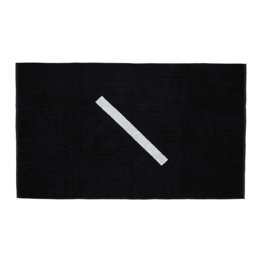 サタデーニューヨーク Saturdays NYC メンズ タオル【Black Slash Towel】