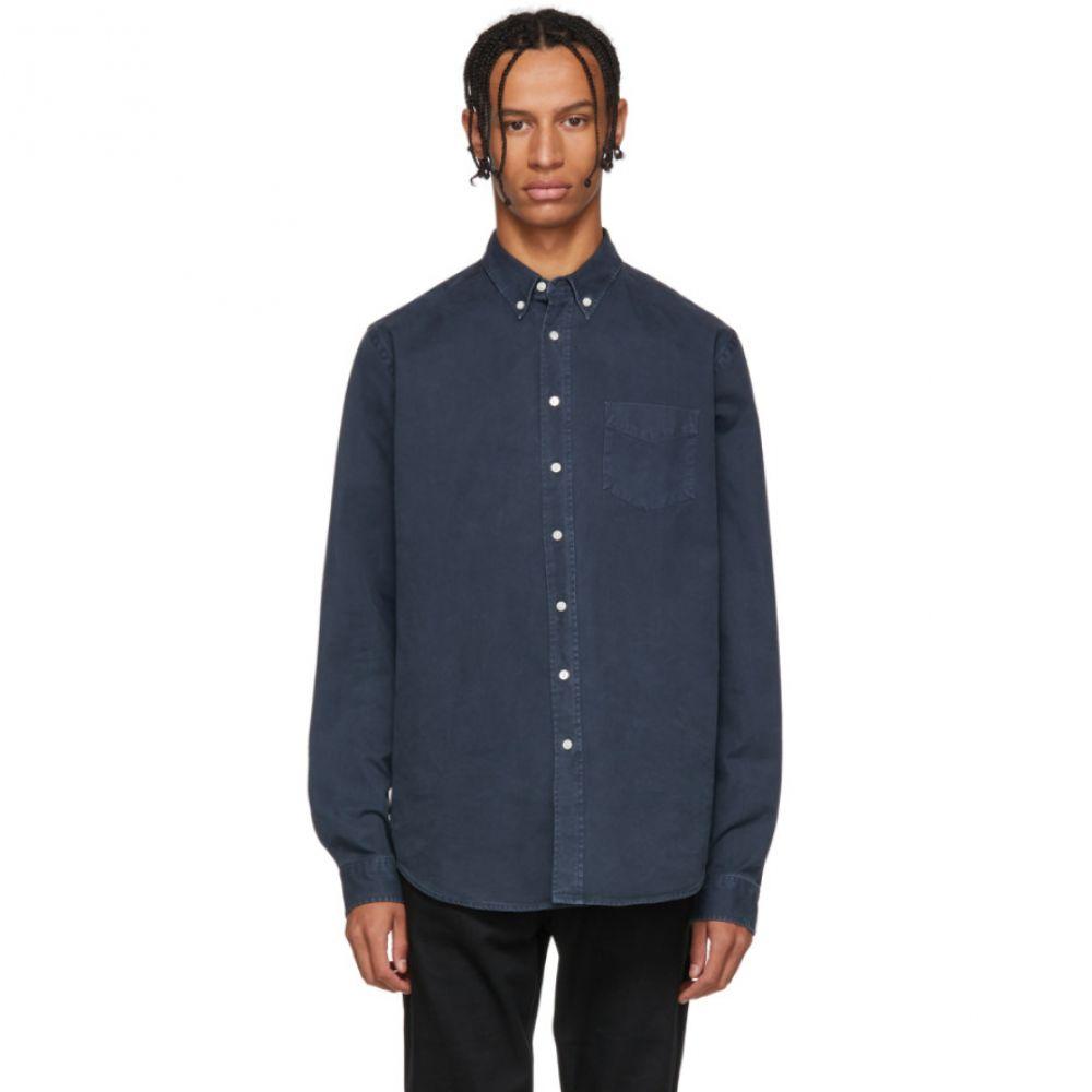 シュナイダーマン Schnayderman's メンズ トップス シャツ【Blue Overdyed One Shirt】