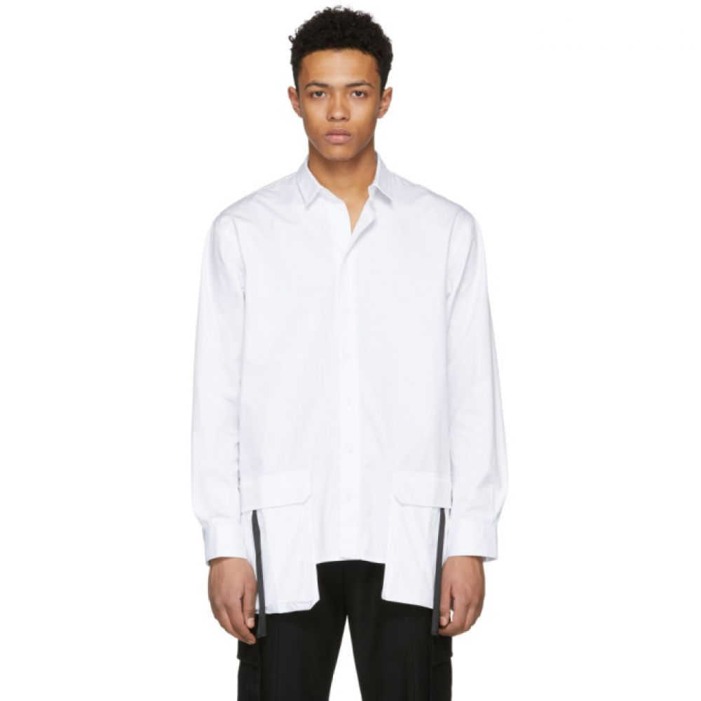 D BY D メンズ トップス シャツ【White Front Pocket Shirt】