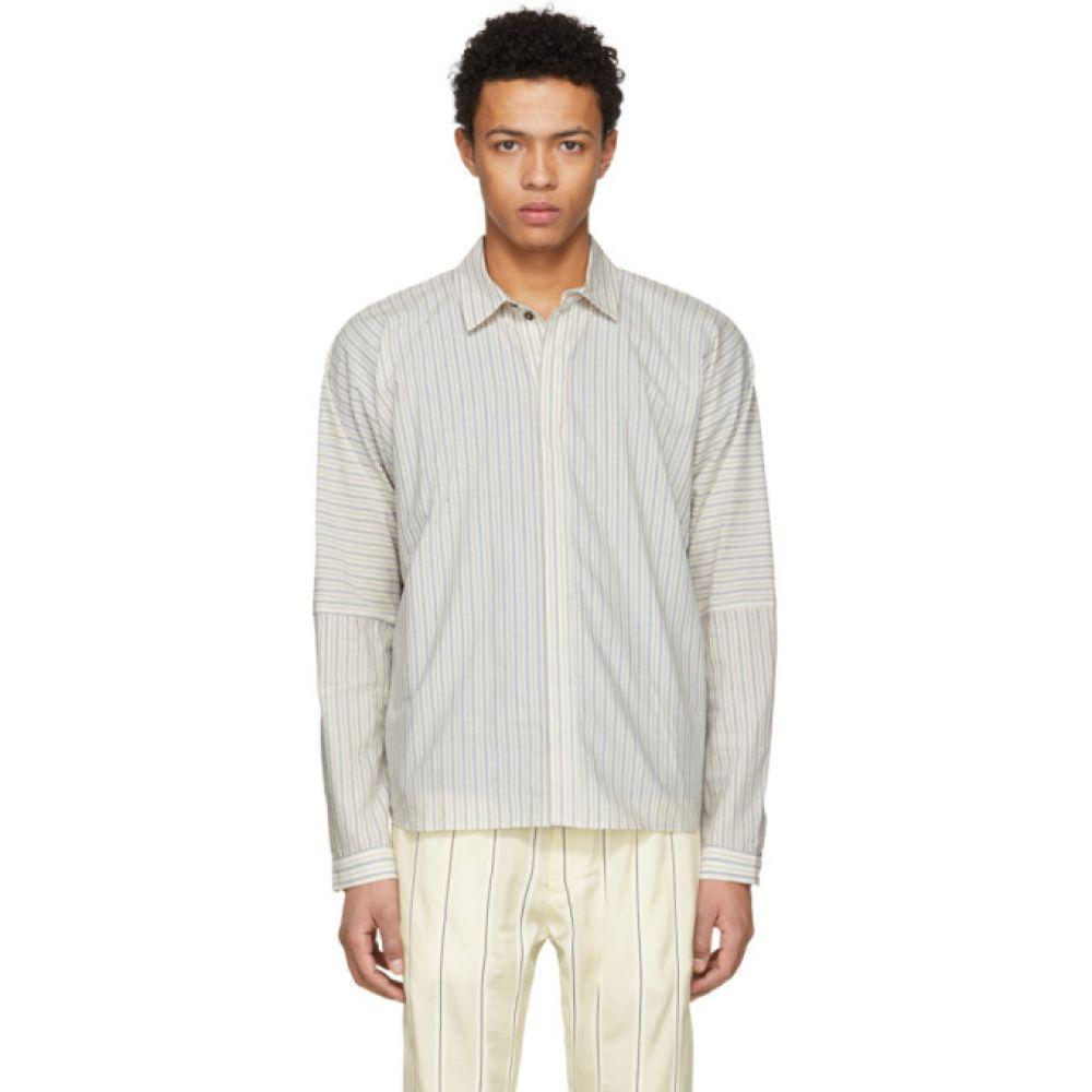 ヤン ヤン ヴァン エシュ Jan-Jan Van Essche メンズ トップス シャツ【Off-White Cotton Stripe Shirt】