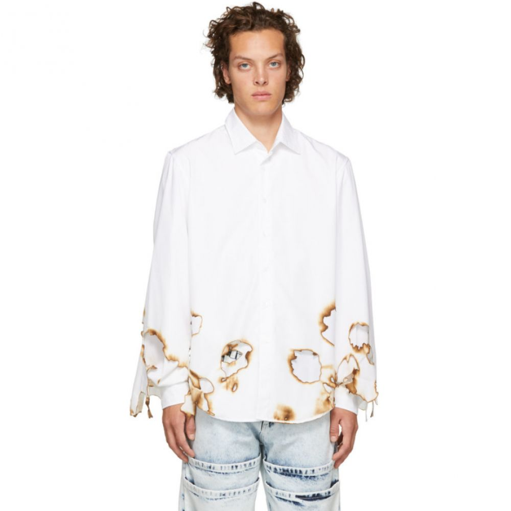 オットリンガー Ottolinger メンズ トップス シャツ【White Burned Shirt】