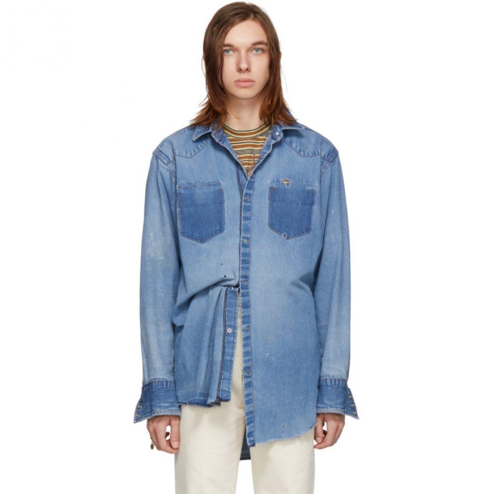 ビーサイズ B Sides メンズ トップス シャツ【Blue Reworked Inside-Out Snap Shirt】