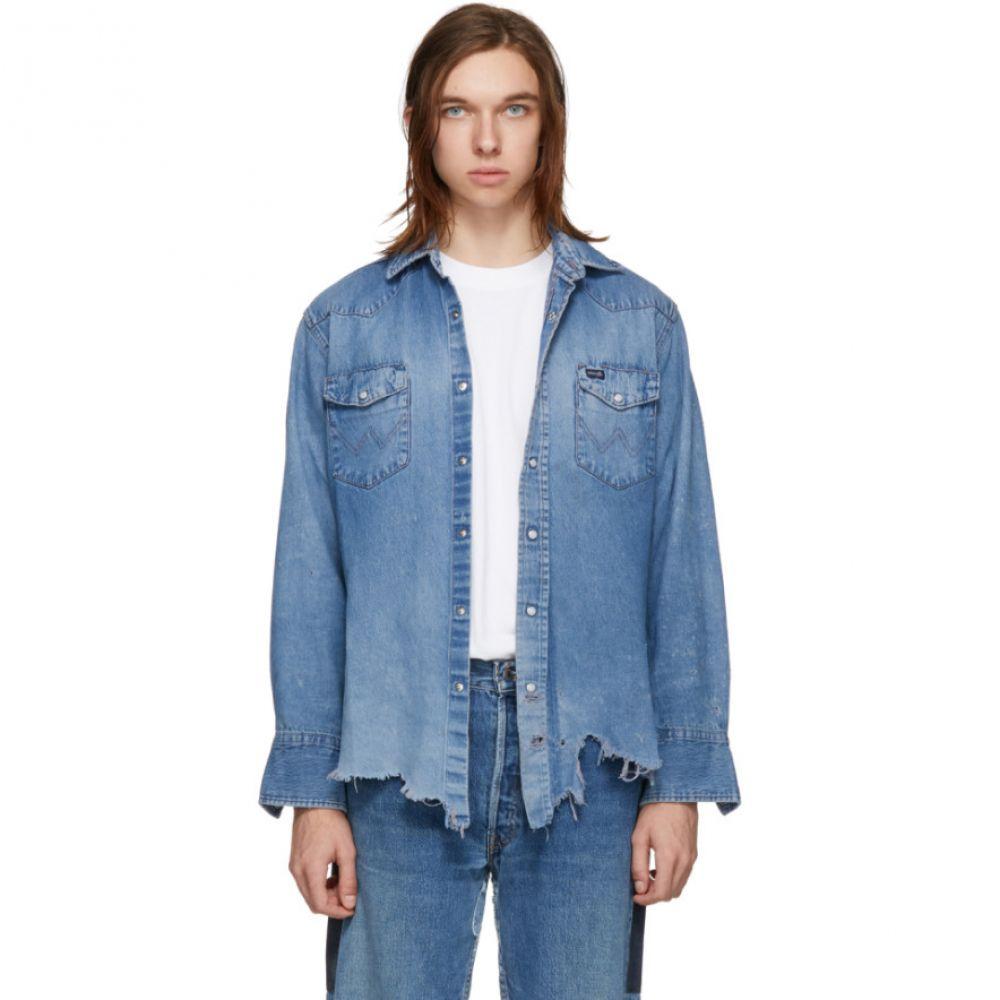 ビーサイズ B Sides メンズ トップス シャツ【Indigo Reworked Collected Shirt】
