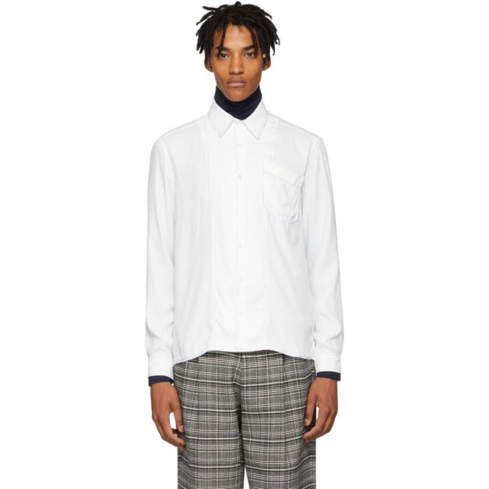 ダニエル W フレッチャー Daniel W. Fletcher メンズ トップス シャツ【White Contrast Stitch Shirt】