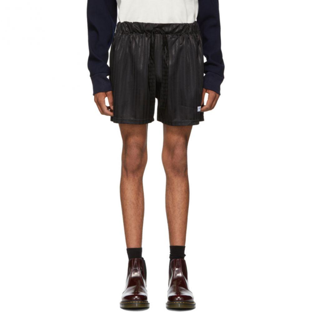 ダニエル W フレッチャー Daniel W. Fletcher メンズ ボトムス・パンツ ショートパンツ【SSENSE Exclusive Black Shadow Stripe Shorts】