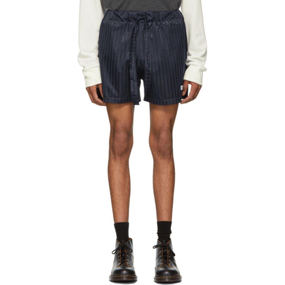 ダニエル W フレッチャー Daniel W. Fletcher メンズ ボトムス・パンツ ショートパンツ【SSENSE Exclusive Navy Shadow Stripe Shorts】