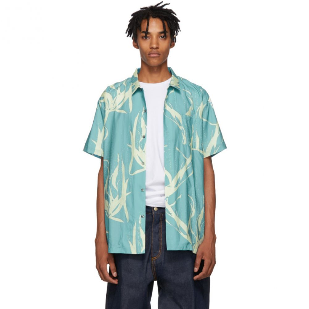 ダブルレインボー Double Rainbouu メンズ トップス シャツ【Blue Sound Garden Hawaiian Shirt】