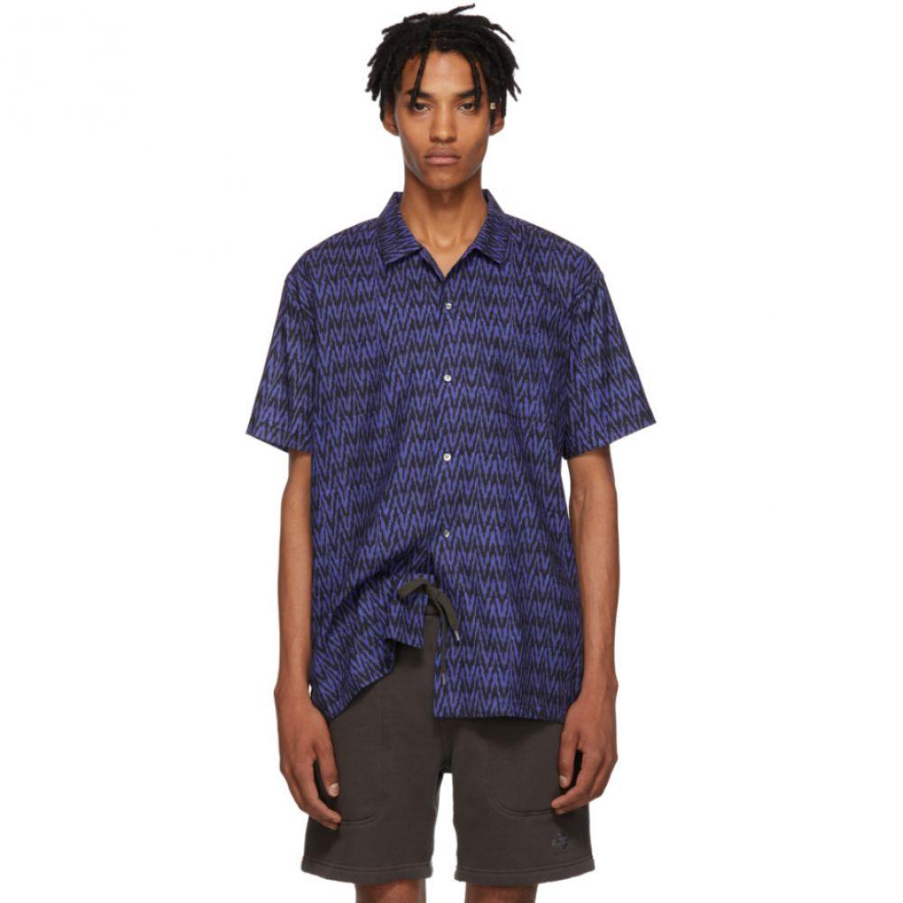 ダブルレインボー Double Rainbouu メンズ トップス シャツ【Navy & Black Sitar Noir Hawaiian Shirt】