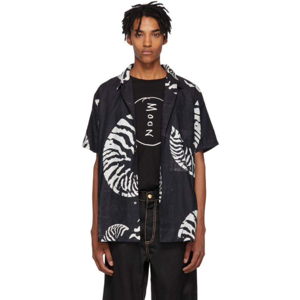 ダブルレインボー Double Rainbouu メンズ トップス シャツ【Black & White Beach House Hawaiian Shirt】