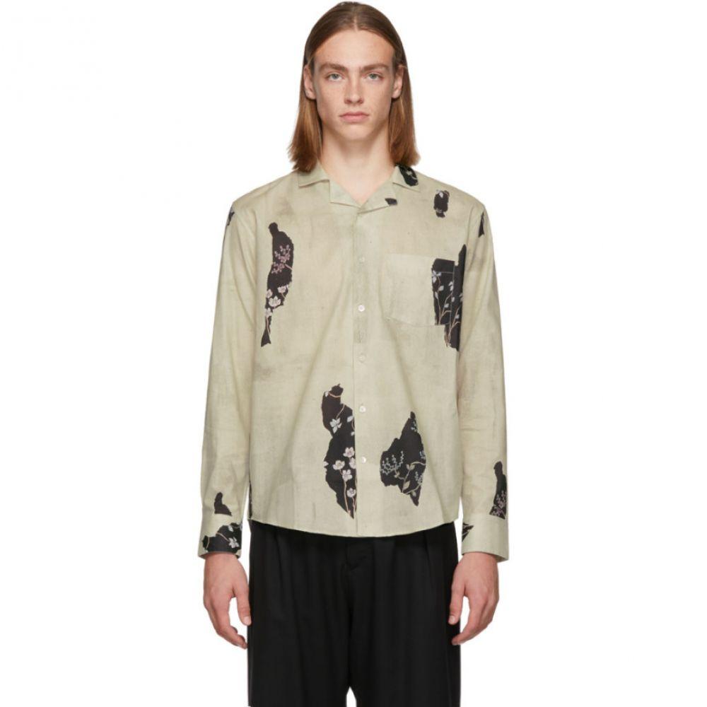 ル オムルージュ L'Homme Rouge メンズ トップス シャツ【Beige Wallpaper Shirt】