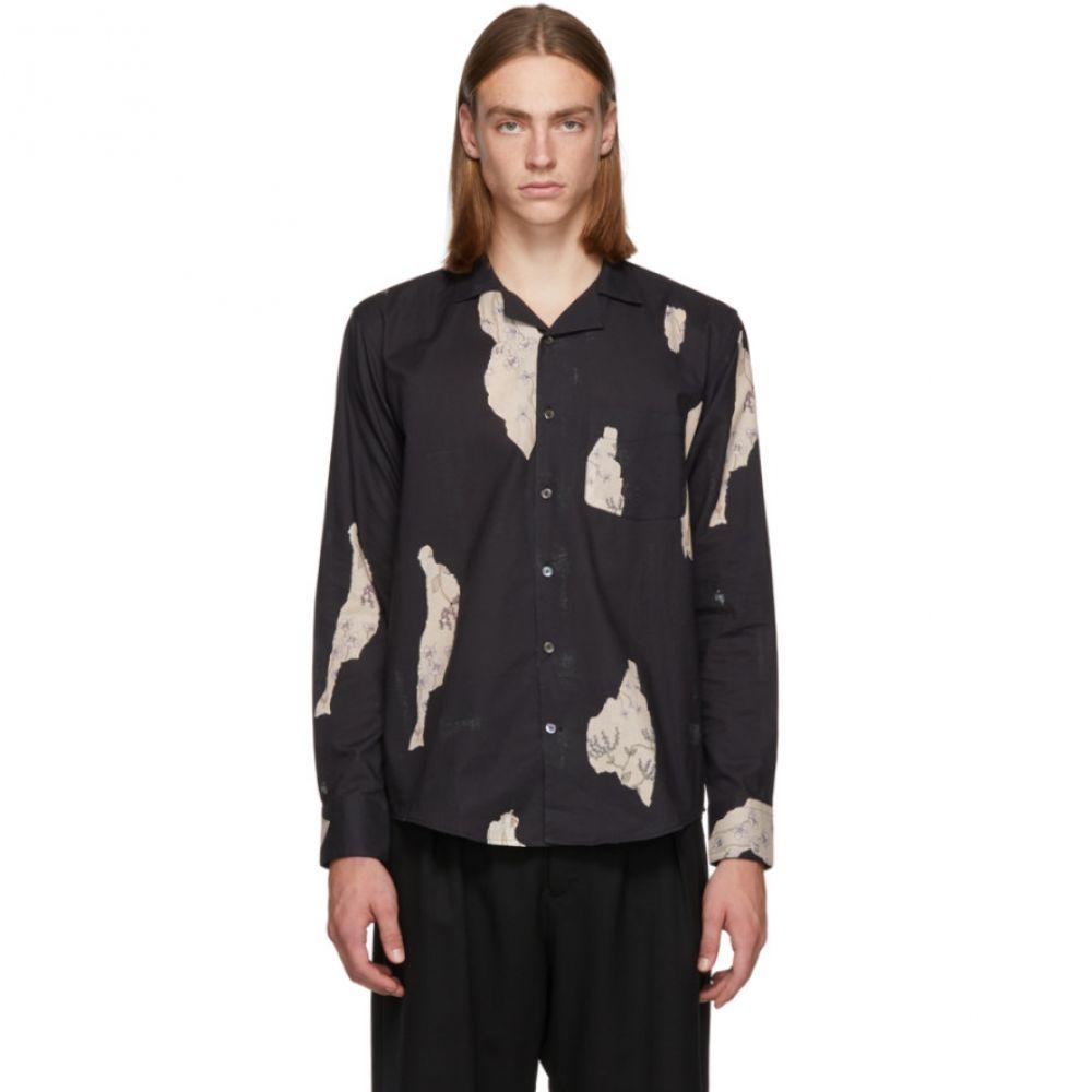 ル オムルージュ L'Homme Rouge メンズ トップス シャツ【Black Wallpaper Shirt】