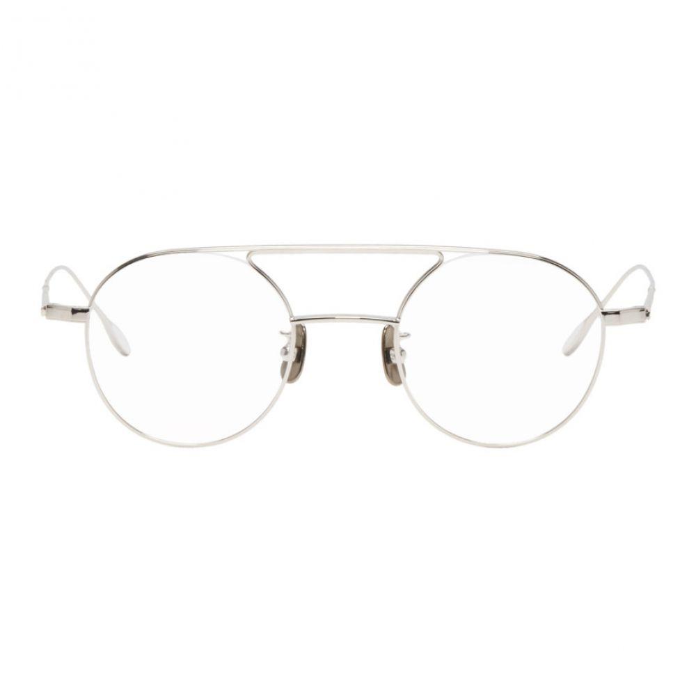ユウイチ トヤマ Yuichi Toyama メンズ メガネ・サングラス【Silver Round Hannes Glasses】