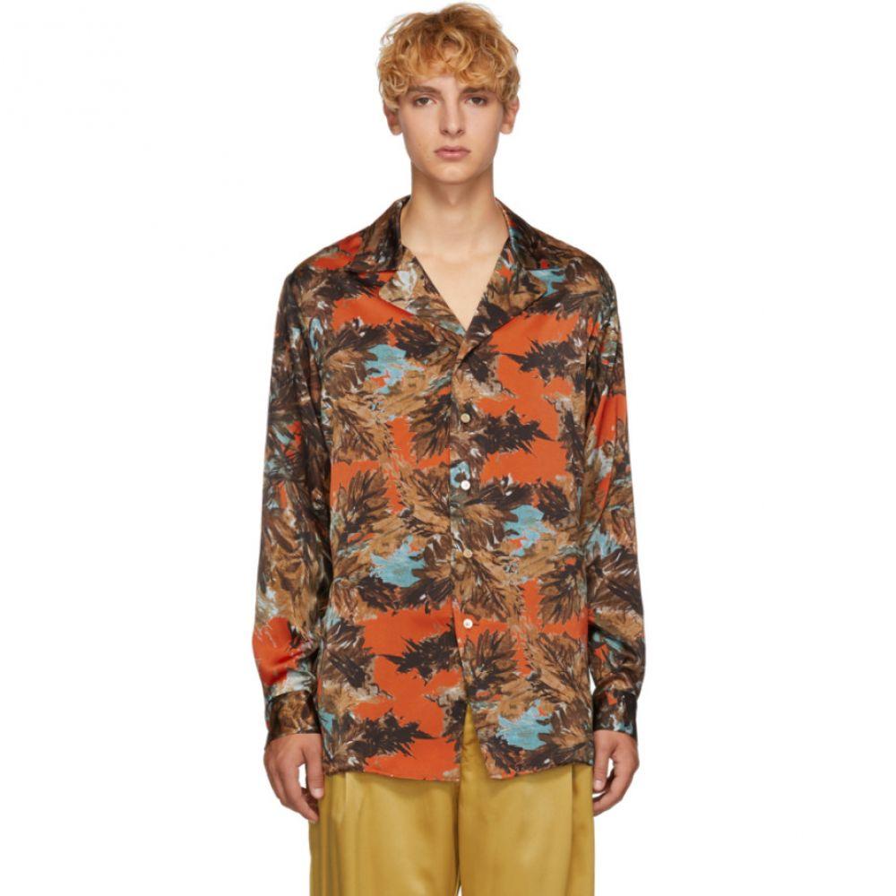 ベッドフォード BED J.W. FORD メンズ トップス シャツ【Orange & Green Gara Shirt】
