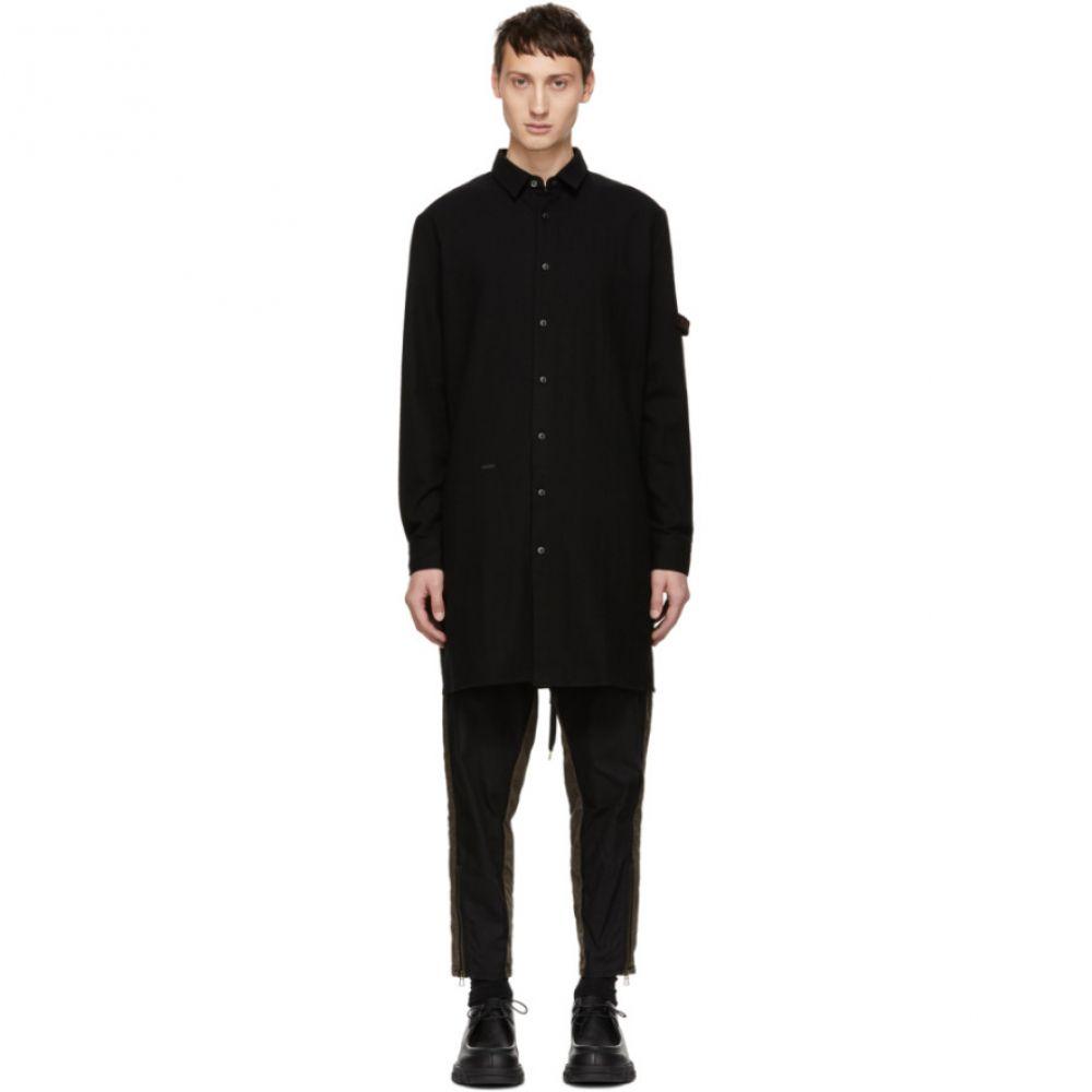 ロバートゲラー Robert Geller メンズ トップス シャツ【Black 'The Franz Long' Shirt】