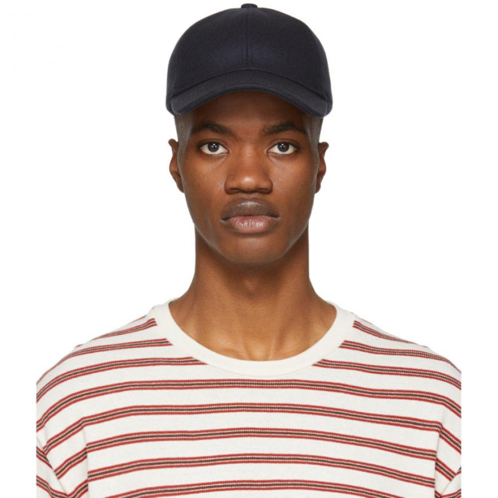 アーペーセー A.P.C. メンズ 帽子 キャップ【Navy Wool Alex Cap】