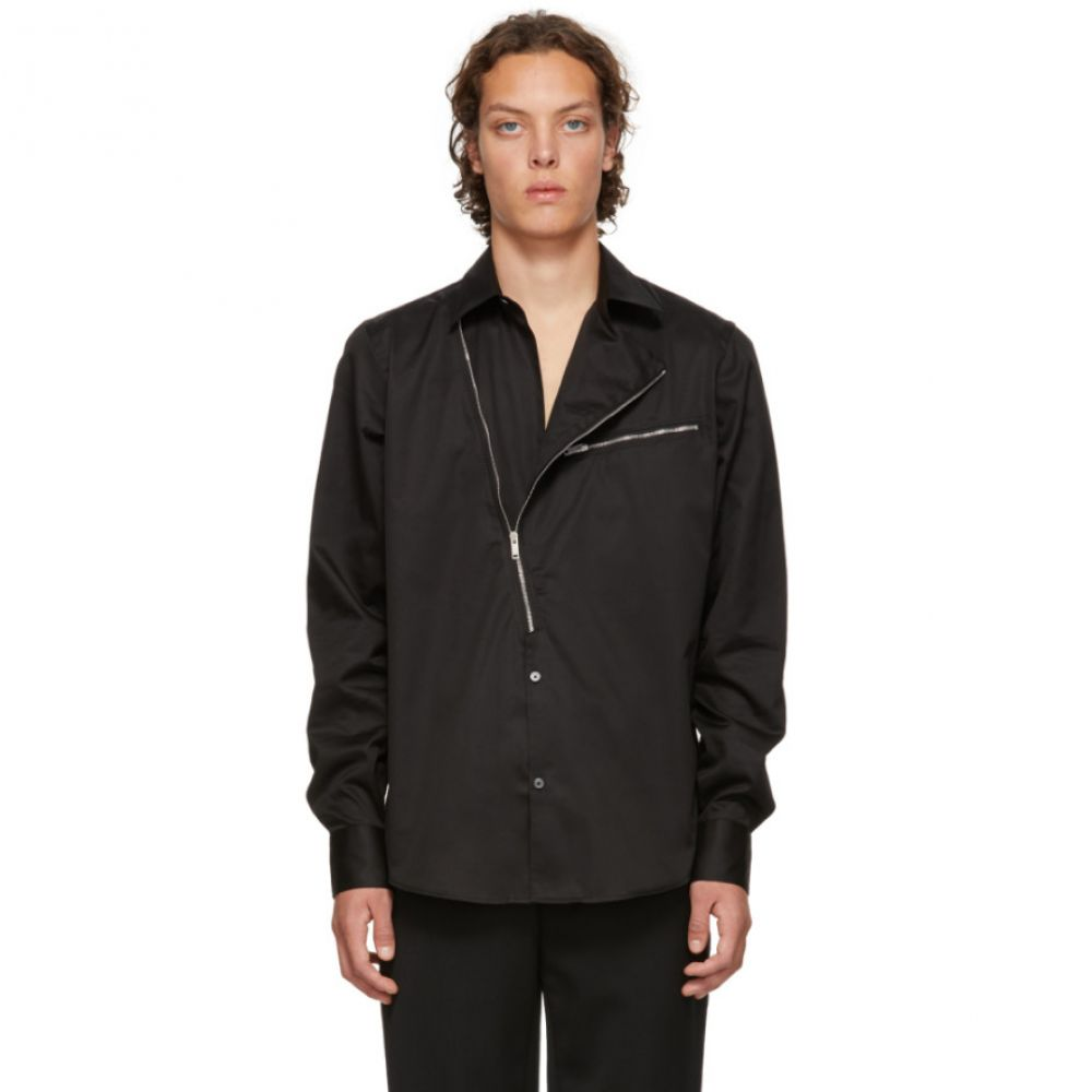 ジバンシー Givenchy メンズ トップス シャツ【Black Asymmetric Zip Shirt】