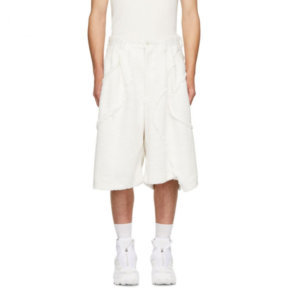 コム デ ギャルソン Comme des Garcons Homme Plus メンズ ボトムス・パンツ ショートパンツ【White Boa Plushy Shorts】
