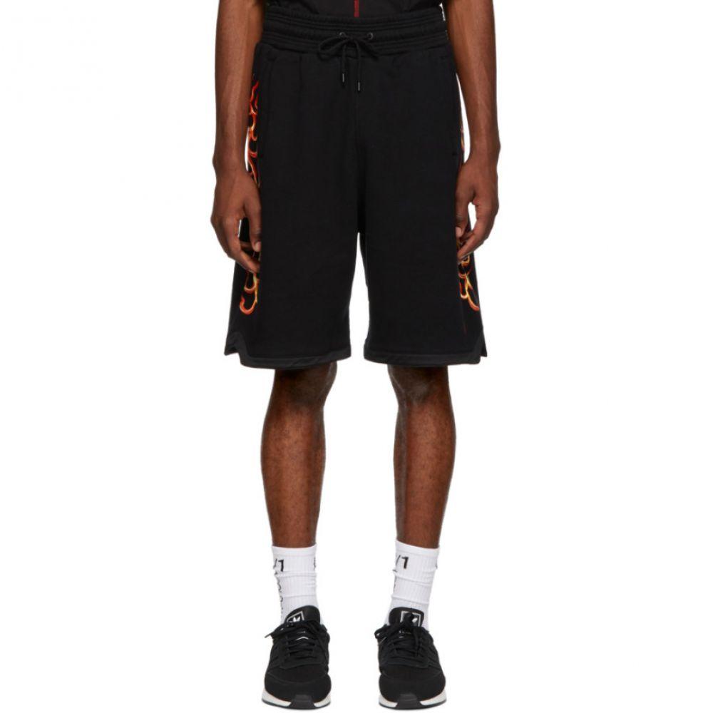 マルセロバーロン Marcelo Burlon County of Milan メンズ ボトムス・パンツ ショートパンツ【Black Flame Sweat Shorts】