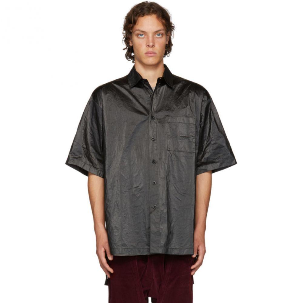 D BY D メンズ トップス シャツ【Black High Density Tyvek Shirt】