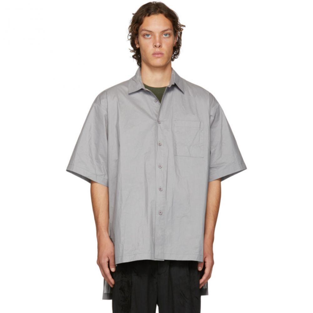 D BY D メンズ トップス シャツ【Grey High Density Tyvek Shirt】