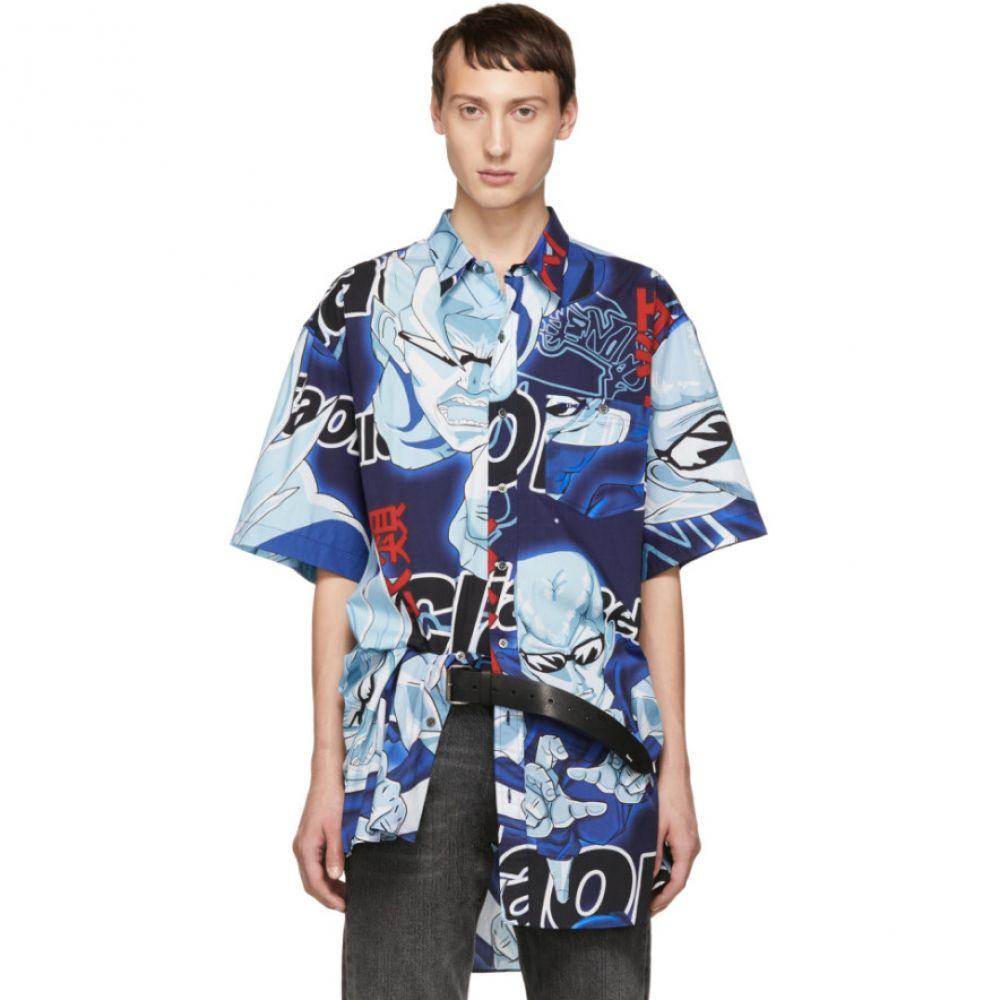 ヴェトモン Vetements メンズ トップス シャツ【Blue Anime Bowling Shirt】