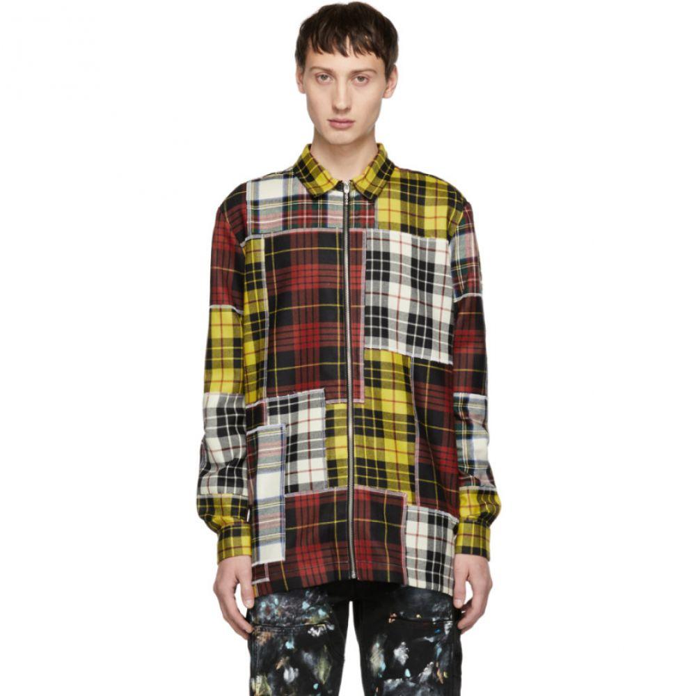 パーム エンジェルス Palm Angels メンズ トップス シャツ【Multicolor Check Patchwork Shirt】