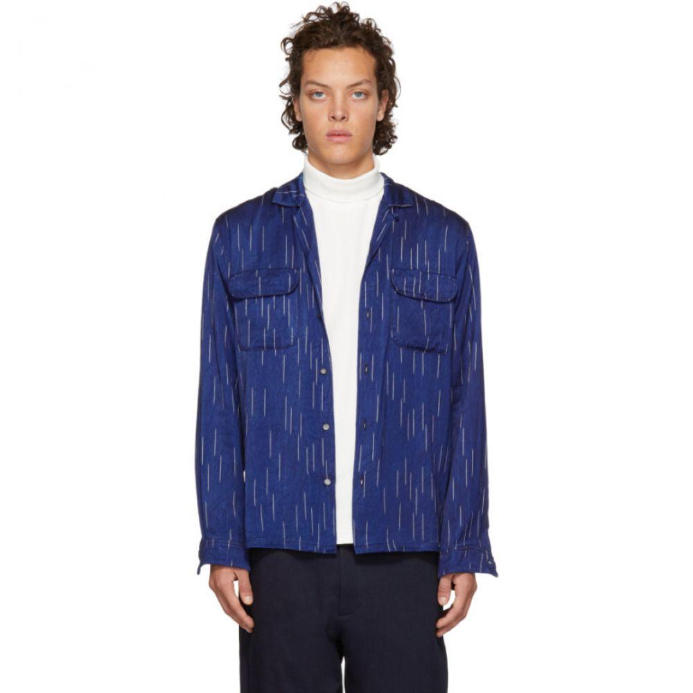 ブルーブルージャパン Blue Blue Japan メンズ トップス シャツ【Indigo Bassen Open Collar Shirt】