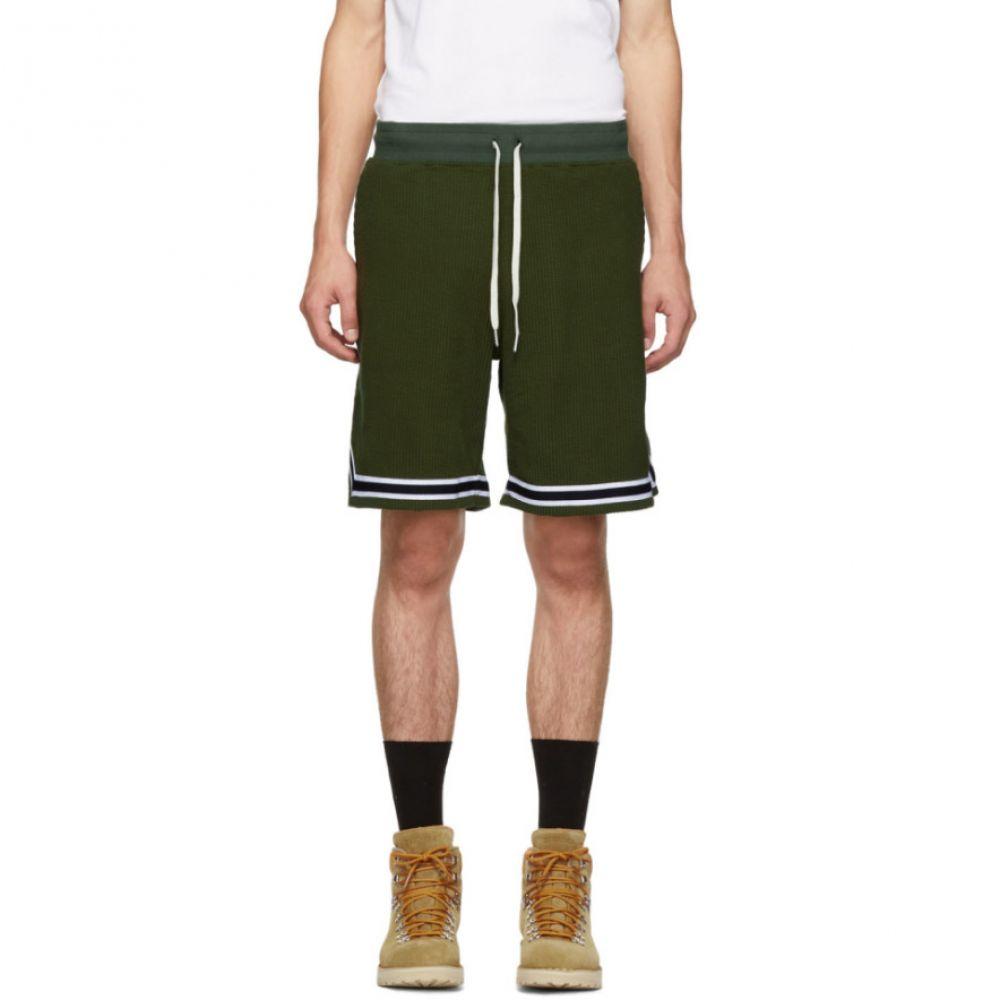 ジョン エリオット John Elliott メンズ ボトムス・パンツ ショートパンツ【Green Corduroy Knit Shorts】