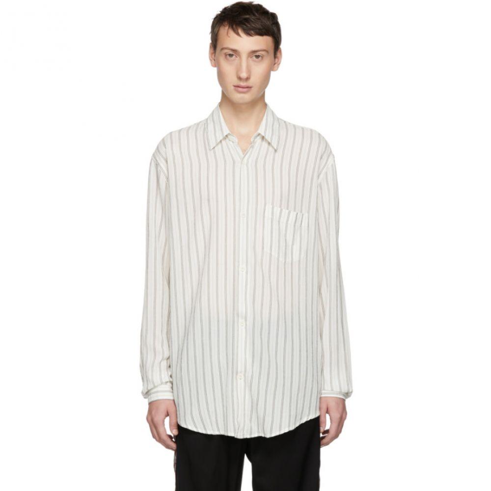 アワーレガシー Our Legacy メンズ トップス シャツ【White Cigarill Stripe Initial Shirt】