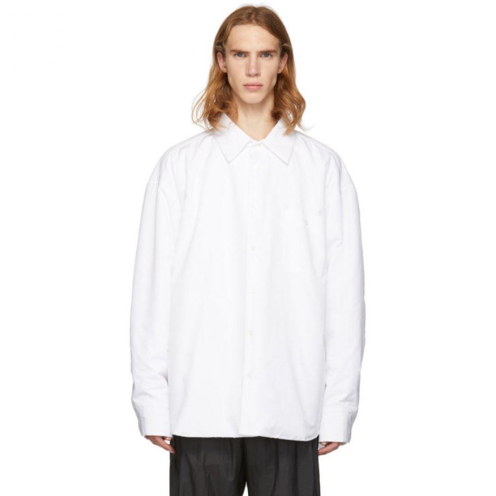 ヘド メイナー Hed Mayner メンズ トップス シャツ【White Padded Shirt】