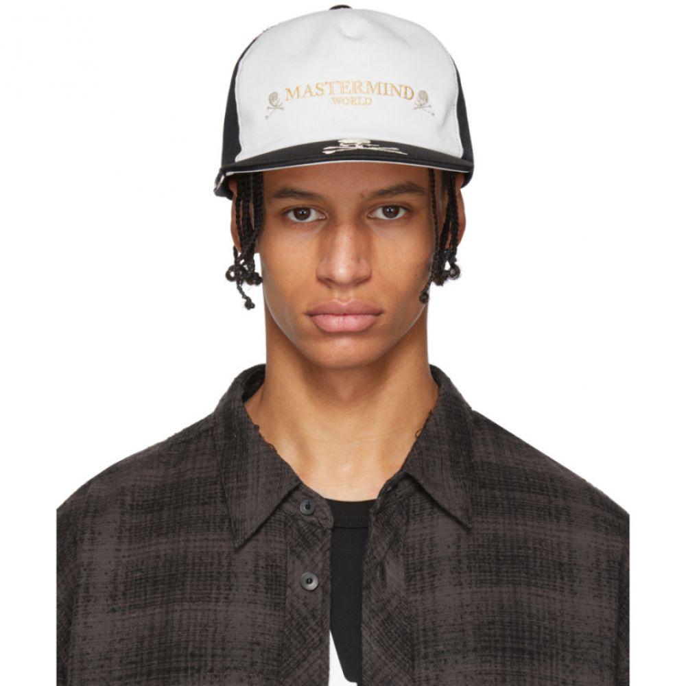 マスターマインド mastermind WORLD メンズ 帽子 キャップ【Black & White Embroidered Logo Cap】