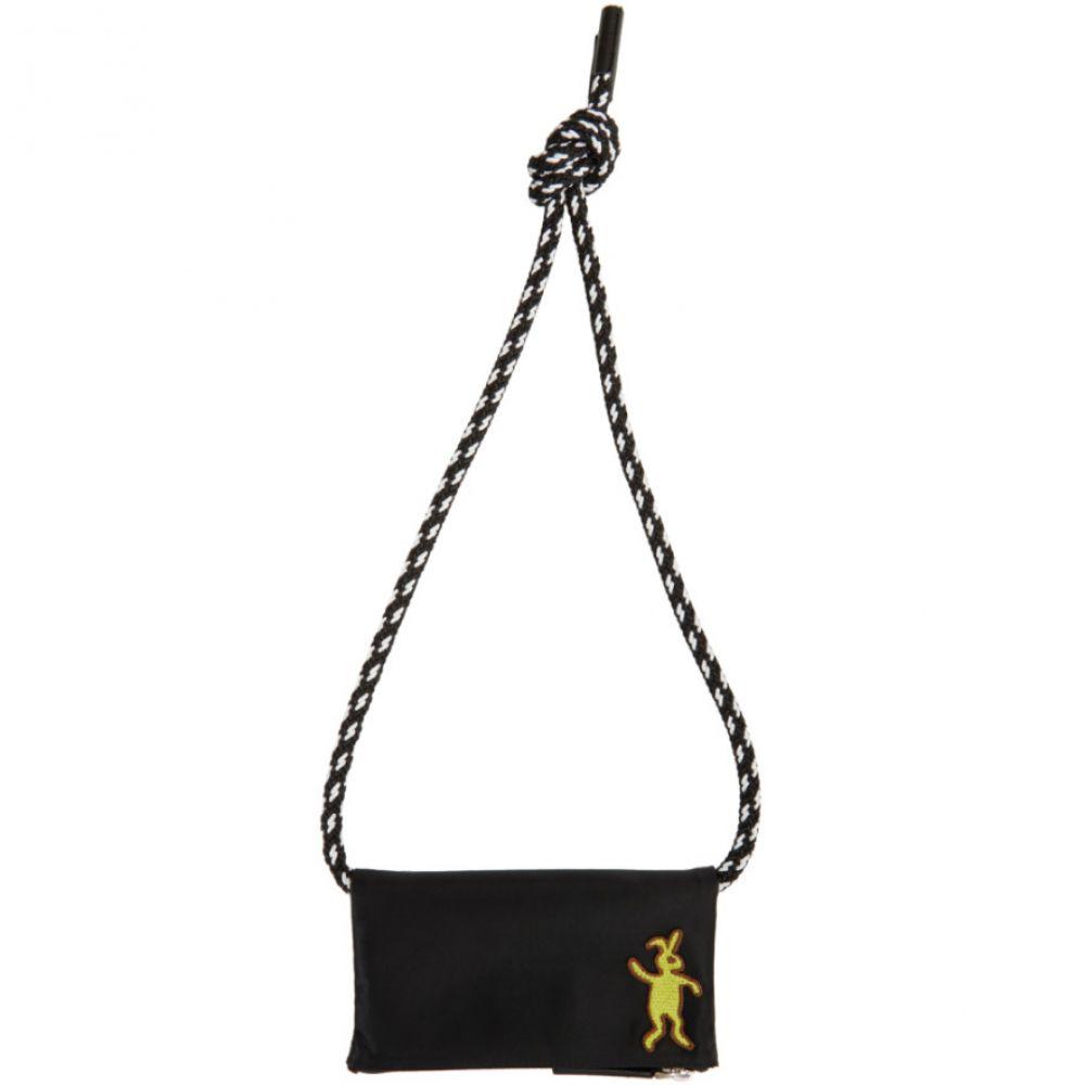マルニ Marni Dance Bunny メンズ 財布【Black Bunny String Wallet】