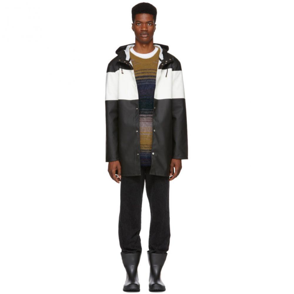 ストゥッテルハイム Stutterheim メンズ アウター レインコート【Black & White Striped Stockholm Raincoat】