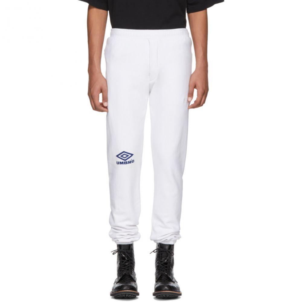 ヴェトモン Vetements メンズ ボトムス・パンツ スウェット・ジャージ【White Umbro Edition Logo Lounge Pants】
