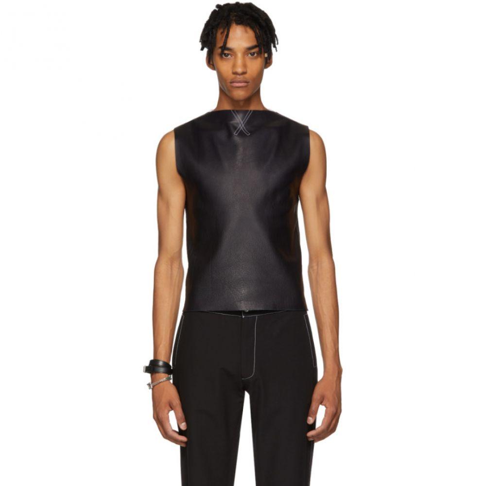【おまけ付】 ダニエル W フレッチャー Daniel W. Fletcher メンズ Rib トップス W. Vest】 ベスト・ジレ【Navy & White Leather Rib Vest】, 最上の品質な:d2b259ec --- portalitab2.dominiotemporario.com