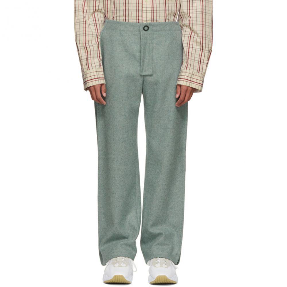 アクネ ストゥディオズ Acne Studios メンズ ボトムス・パンツ【Blue Wool Pleats Trousers】